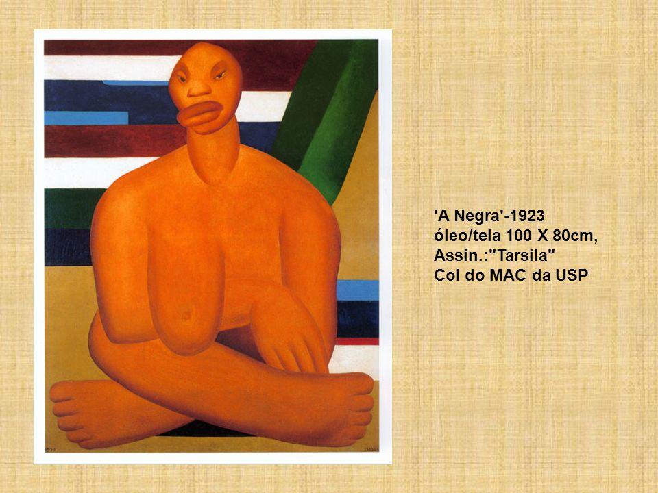 A Negra -1923 óleo/tela 100 X 80cm, Assin.: Tarsila Col do MAC da USP