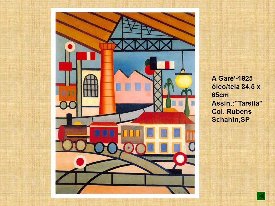 A Gare'-1925 óleo/tela 84,5 x 65cm Assin.: