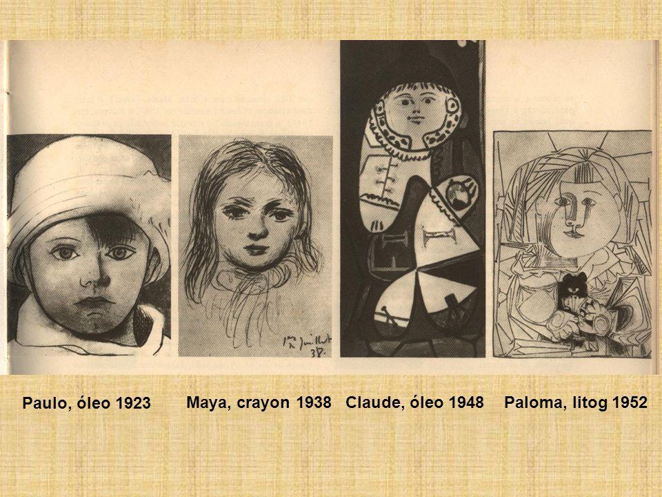 Paulo, óleo 1923 Maya, crayon 1938Claude, óleo 1948Paloma, litog 1952