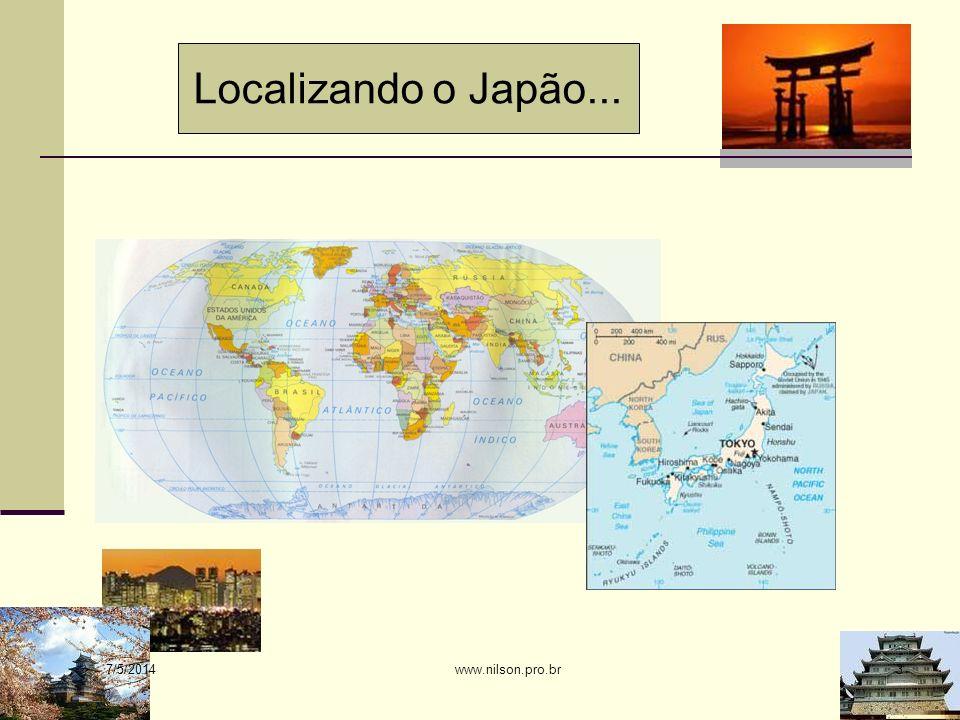 Características ecológicas: Arquipélago constituído por cerca de 7.000 ilhas, localizado ao largo da costa nordeste da Ásia, entre o Mar do Japão e o Oceano Pacífico Norte.
