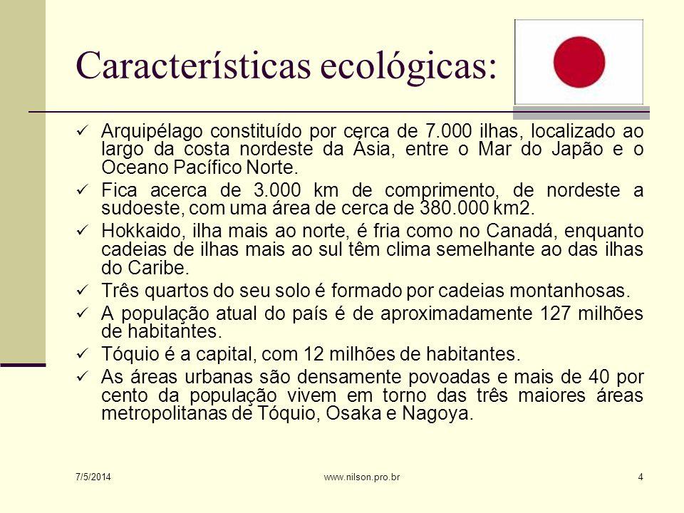 ORGANIZAÇÃO E INSTITUIÇÕES DA SOCIEDADE A organização econômica O Japão pós-guerra é um país altamente industrializado.