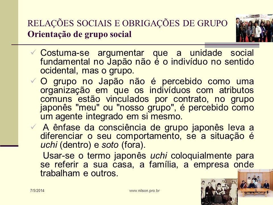 A dicotomia uchi-soto é um critério importante para definir as relações sociais no Japão, mas não suficiente.