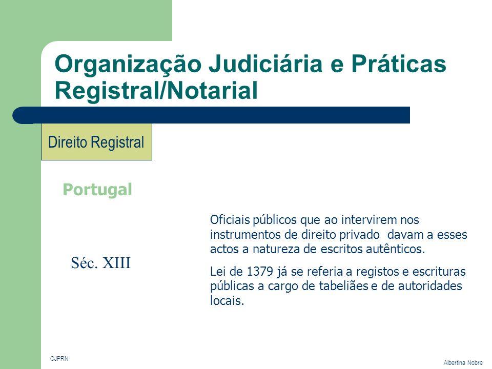 Organização Judiciária e Práticas Registral/Notarial OJPRN Albertina Nobre Direito Registral Portugal Oficiais públicos que ao intervirem nos instrume