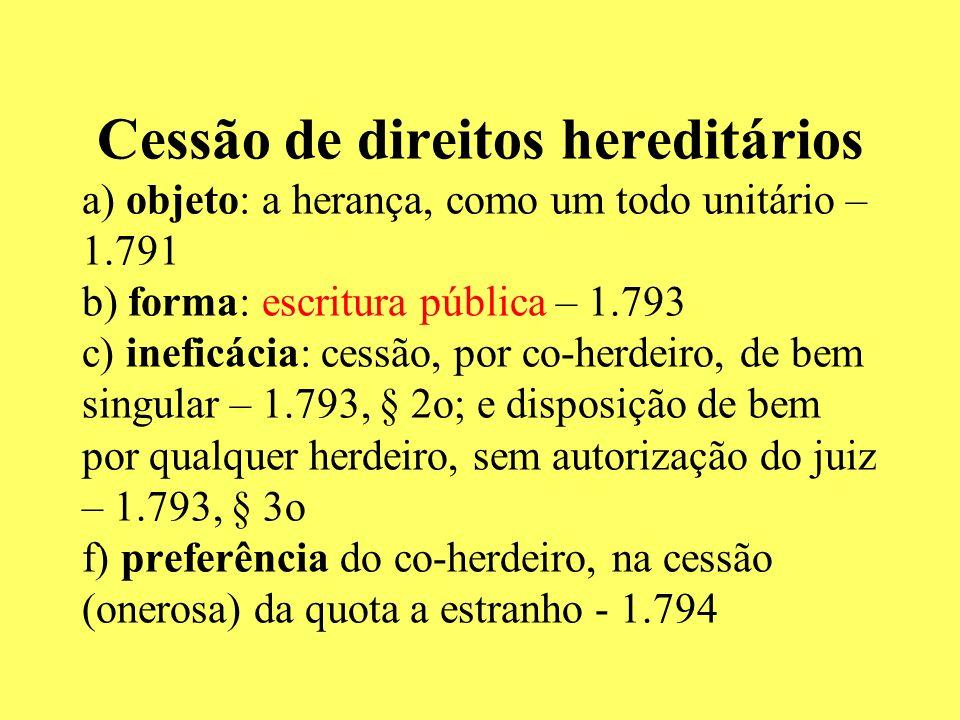 HERDEIROS NECESSÁRIOS CC DE 2002 – art.