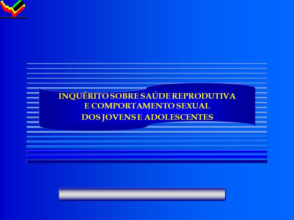 INQUÉRITO SOBRE SAÚDE REPRODUTIVA E COMPORTAMENTO SEXUAL DOS JOVENS E ADOLESCENTES