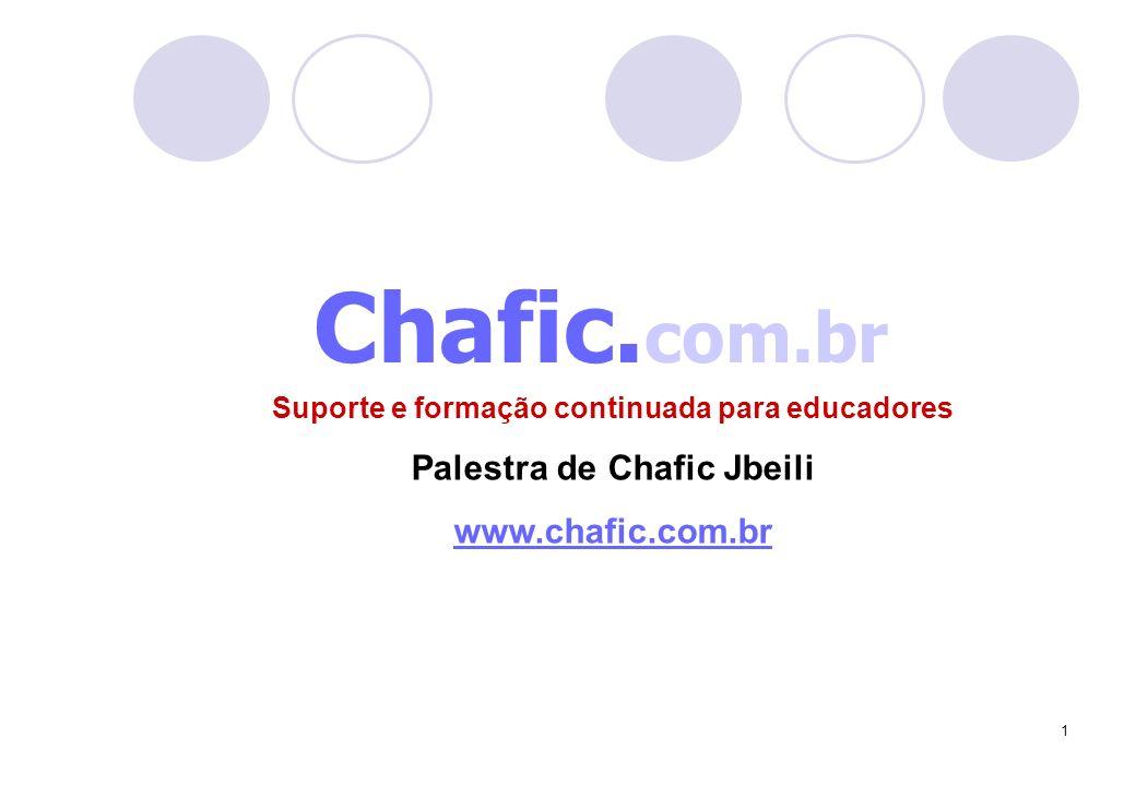 1 Chafic. com.br Suporte e formação continuada para educadores Palestra de Chafic Jbeili www.chafic.com.br