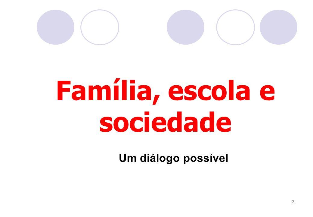 2 Família, escola e sociedade Um diálogo possível