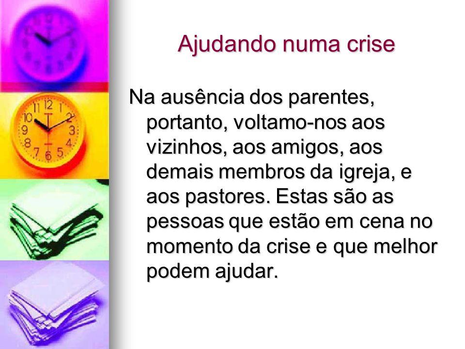 Lidando com uma crise Se sabemos lidar com a crise, adaptar-nos a nossas novas circunstâncias;