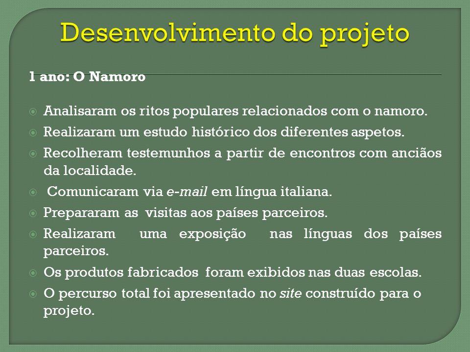 O Projeto CUORE, no âmbito do Programa Comenius, promoveu: 1.