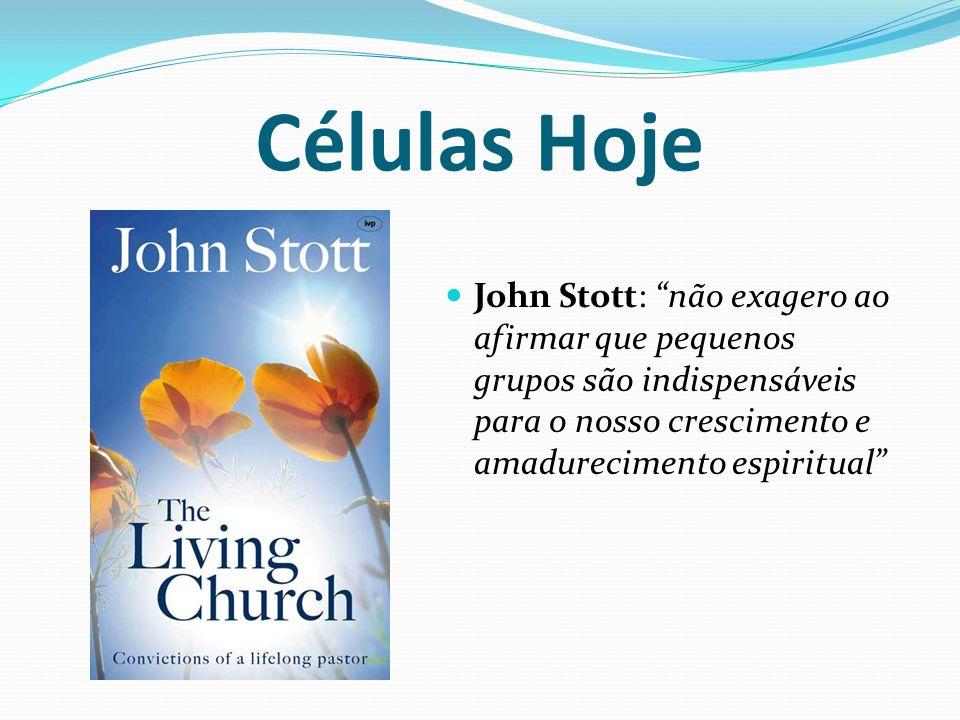 Células Hoje John Stott: não exagero ao afirmar que pequenos grupos são indispensáveis para o nosso crescimento e amadurecimento espiritual