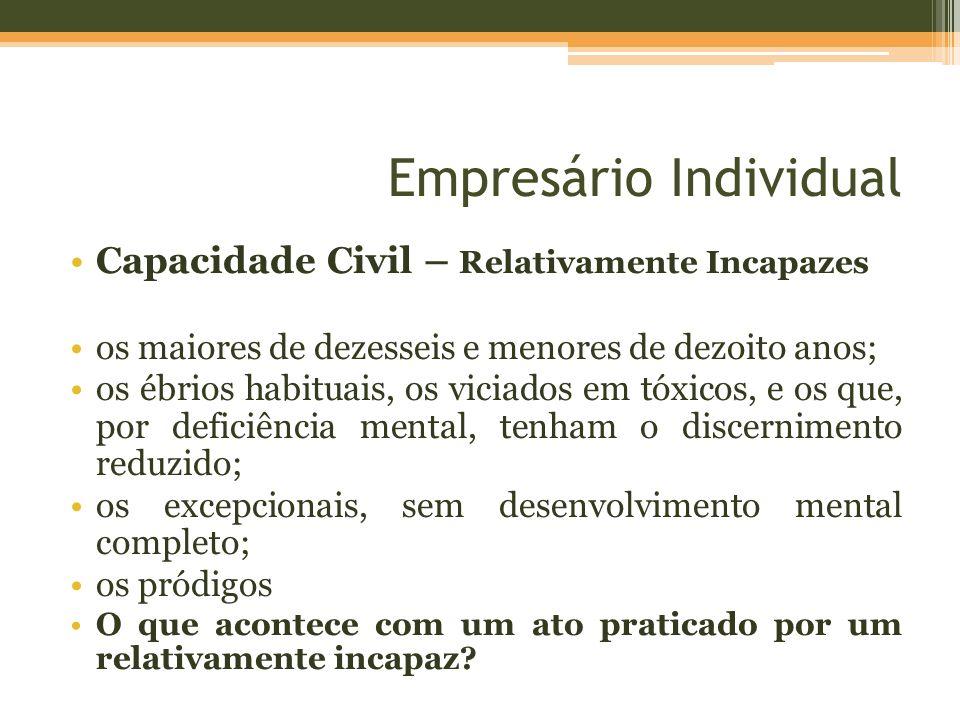 Empresário Individual Menor pode ser empresário.