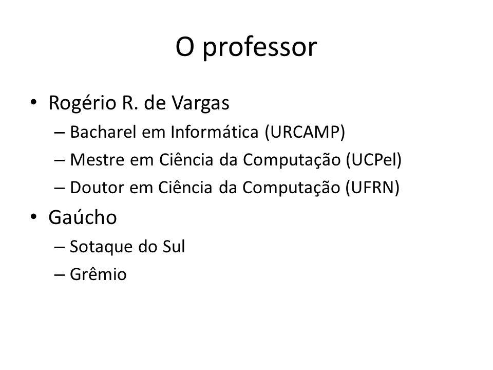 O professor Rogério R.