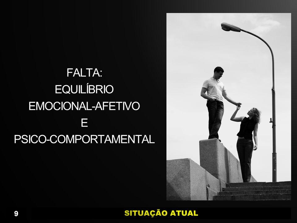 FALTA: EQUILÍBRIO EMOCIONAL-AFETIVO E PSICO-COMPORTAMENTAL 9