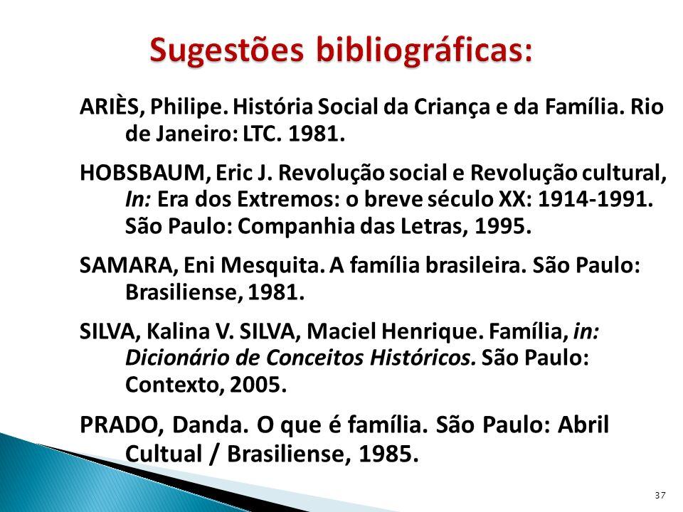 ARIÈS, Philipe.História Social da Criança e da Família.