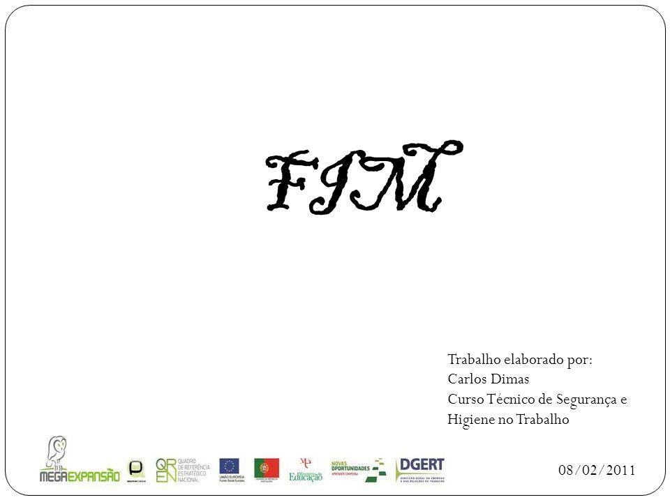 FIM 08/02/2011 Trabalho elaborado por: Carlos Dimas Curso Técnico de Segurança e Higiene no Trabalho