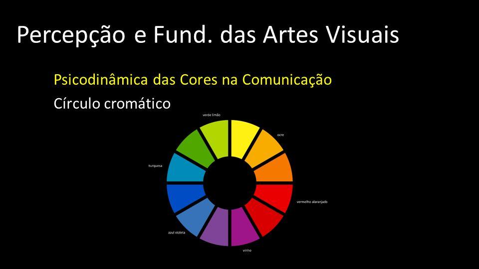 Percepção e Fund. das Artes Visuais Psicodinâmica das Cores na Comunicação Círculo cromático