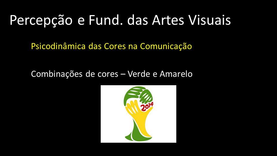 Percepção e Fund. das Artes Visuais Psicodinâmica das Cores na Comunicação Combinações de cores – Verde e Amarelo