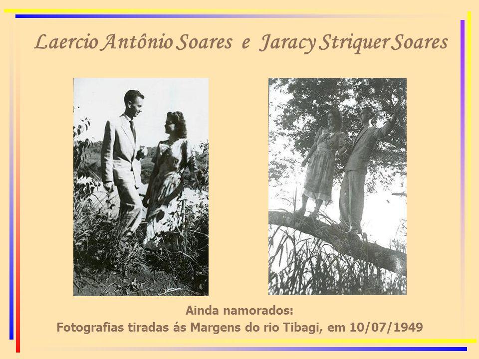 Laercio Antônio Soares e Jaracy Striquer Soares Ainda namorados: Fotografias tiradas ás Margens do rio Tibagi, em 10/07/1949
