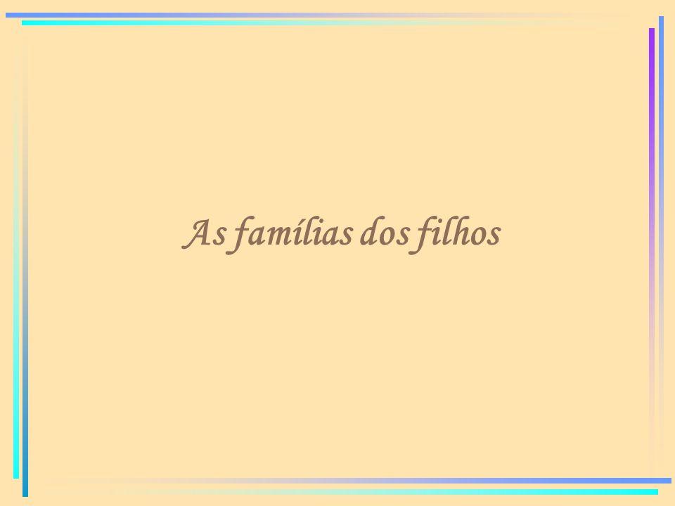 As famílias dos filhos