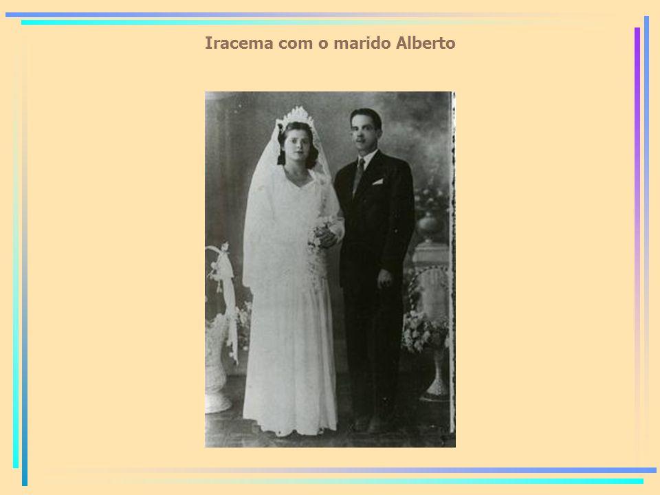 Iracema com o marido Alberto