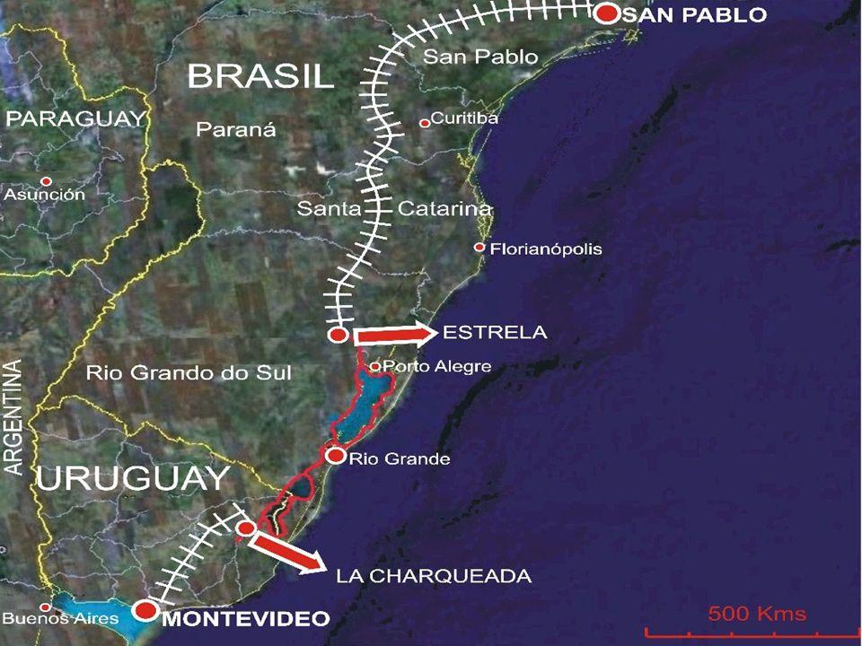 Como parte integrante da Hidrovia Brasil-Uruguai serão estudados os seguintes trechos navegáveis: Lagoa Mirim (190 km) Rio Jaguarão (40 km) Canal São Gonçalo (70 km) Lagoa dos Patos (240 km) Lago Guaíba (52 km) Rio Jacuí (255 km) Rio Camaquã (30 km) Rio Taquari (100 km) Rio dos Sinos (44 km) Rio Gravataí (15 km) Lagoa do Casamento (70 km) Rio Caí (75 km) Bacia do Rio Uruguai (420 km)