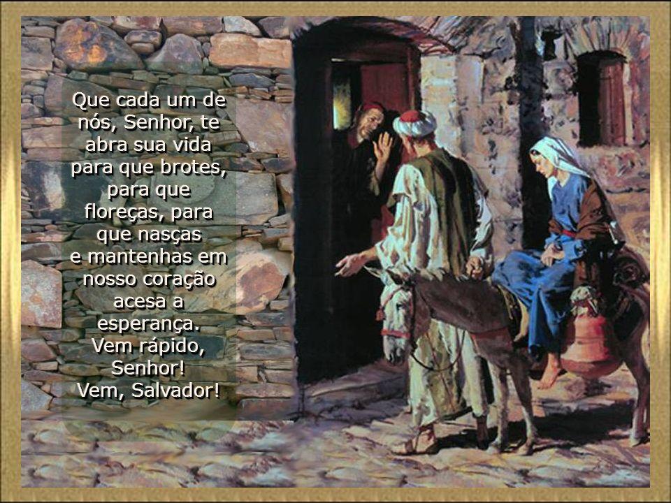 Os profetas mantinham acesa a esperança de Israel. Nós, como um símbolo, acendemos estas duas velas. O velho tronco está rebrotando; se estremece porq