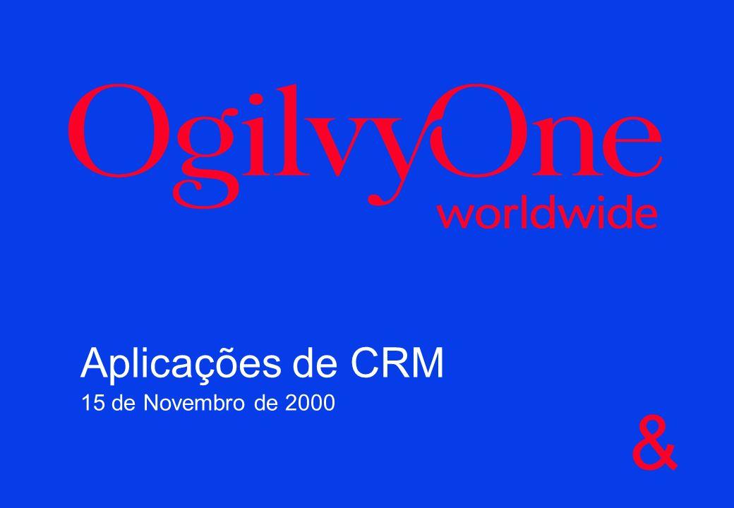 & Aplicações de CRM 15 de Novembro de 2000