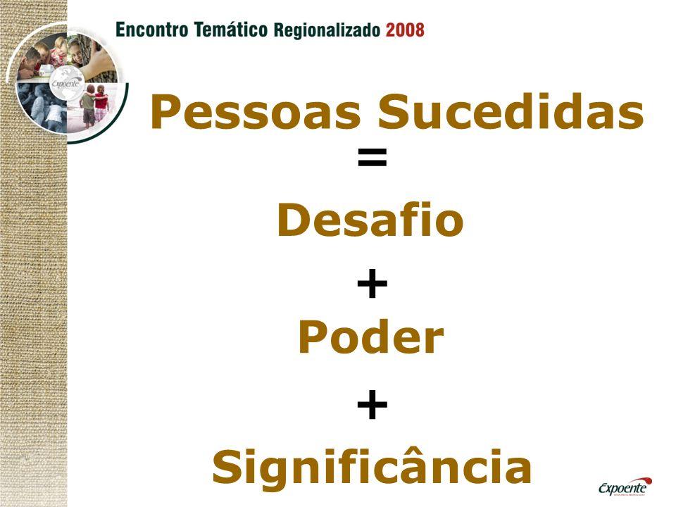 Pessoas Sucedidas = Desafio + Poder Significância +