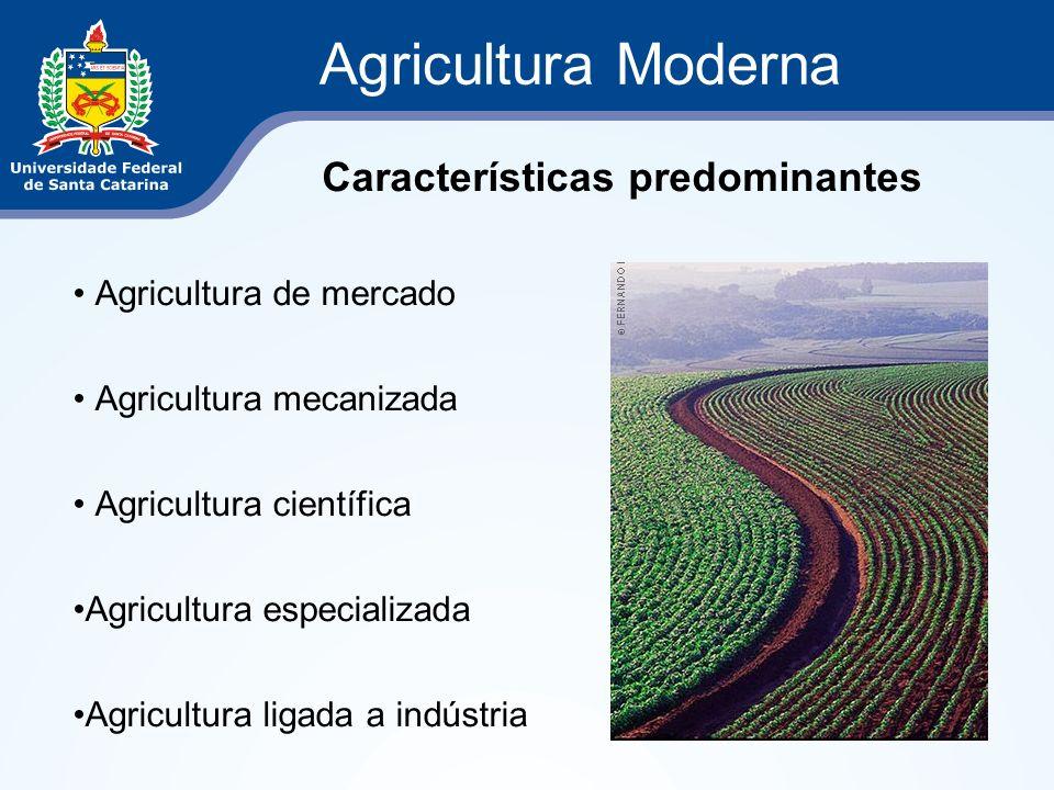 Agricultura Moderna Agricultura de mercado Agricultura mecanizada Agricultura científica Agricultura especializada Agricultura ligada a indústria Cara