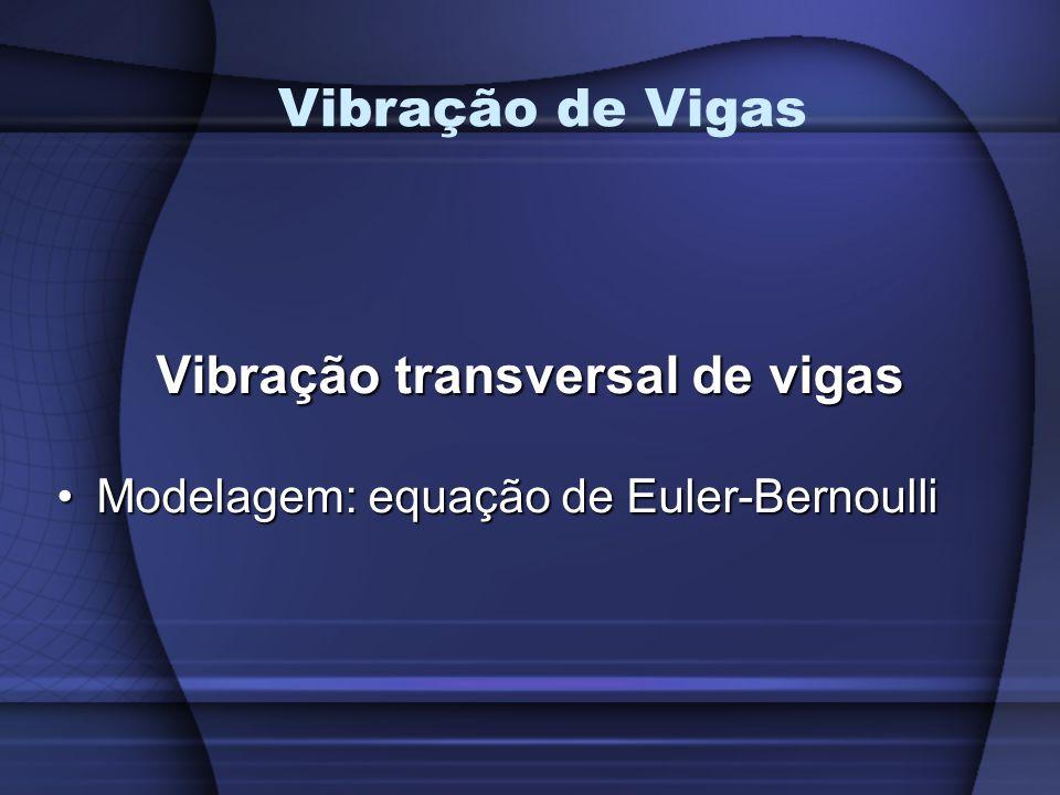Vibração transversal de vigas Modelagem: equação de Euler-BernoulliModelagem: equação de Euler-Bernoulli Vibração de Vigas