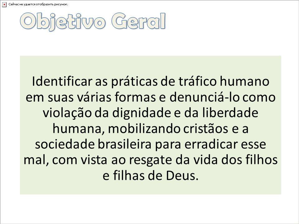 Identificar as práticas de tráfico humano em suas várias formas e denunciá-lo como violação da dignidade e da liberdade humana, mobilizando cristãos e