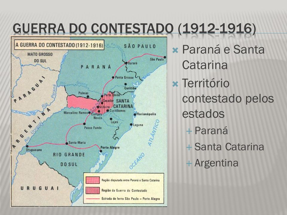 Território contestado pelos Estados Sertanejos sem-terra, famintos e explorados Southern Brazil Lamber and Colonization Brazil Railway