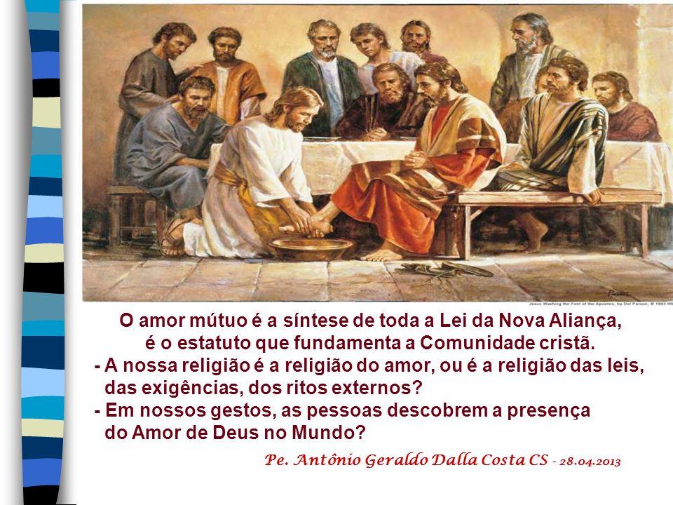 + O Distintivo da Nova Comunidade: Os discípulos de Jesus não são os depositários de uma doutrina, ou de uma ideologia, ou os observadores de leis, ou