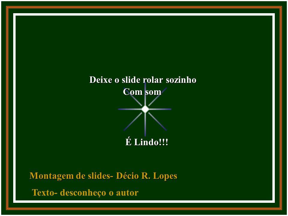 Deixe o slide rolar sozinho É Lindo!!.Montagem de slides- Décio R.