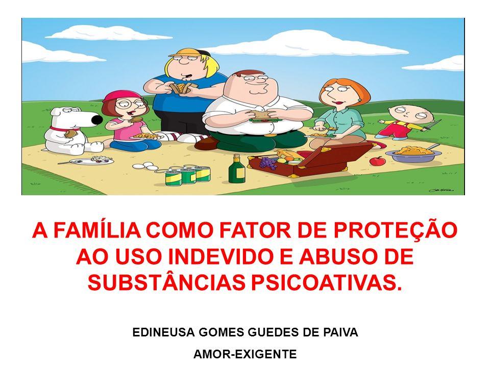 A FAMÍLIA COMO FATOR DE PROTEÇÃO AO USO INDEVIDO E ABUSO DE SUBSTÂNCIAS PSICOATIVAS.