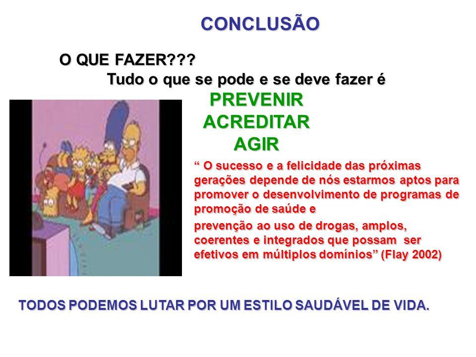 CONCLUSÃO O QUE FAZER??.