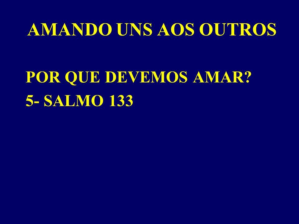AMANDO UNS AOS OUTROS POR QUE DEVEMOS AMAR? 5- SALMO 133