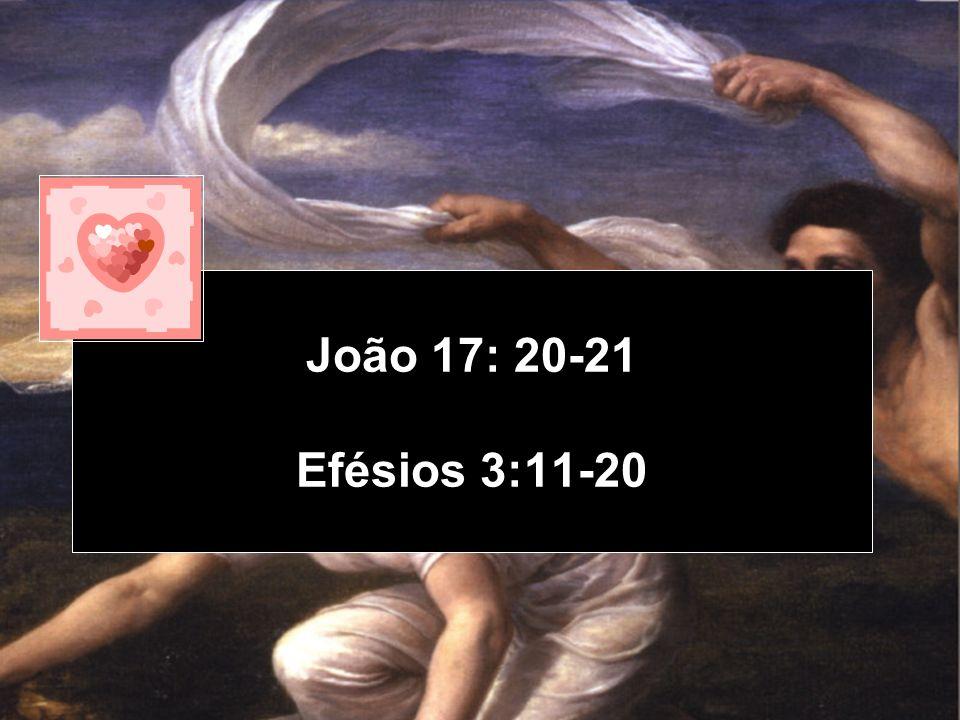João 17: 20-21 Efésios 3:11-20