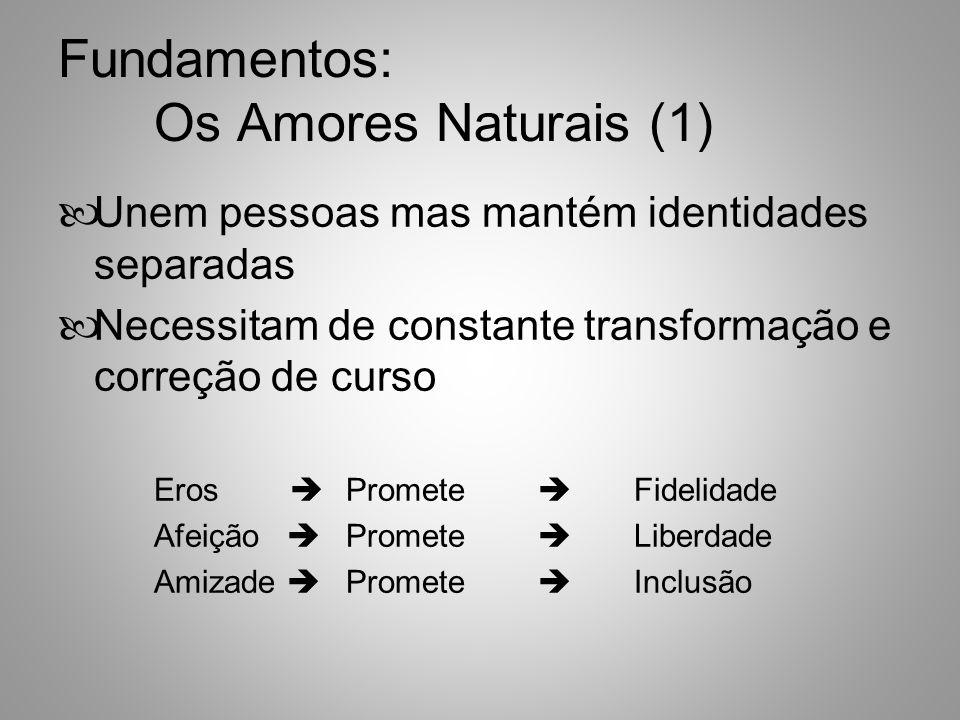 Fundamentos: Os Amores Naturais (2) Ninguém Consegue Cumprir as Suas Promessas Sem o Apoio do Amor Agape