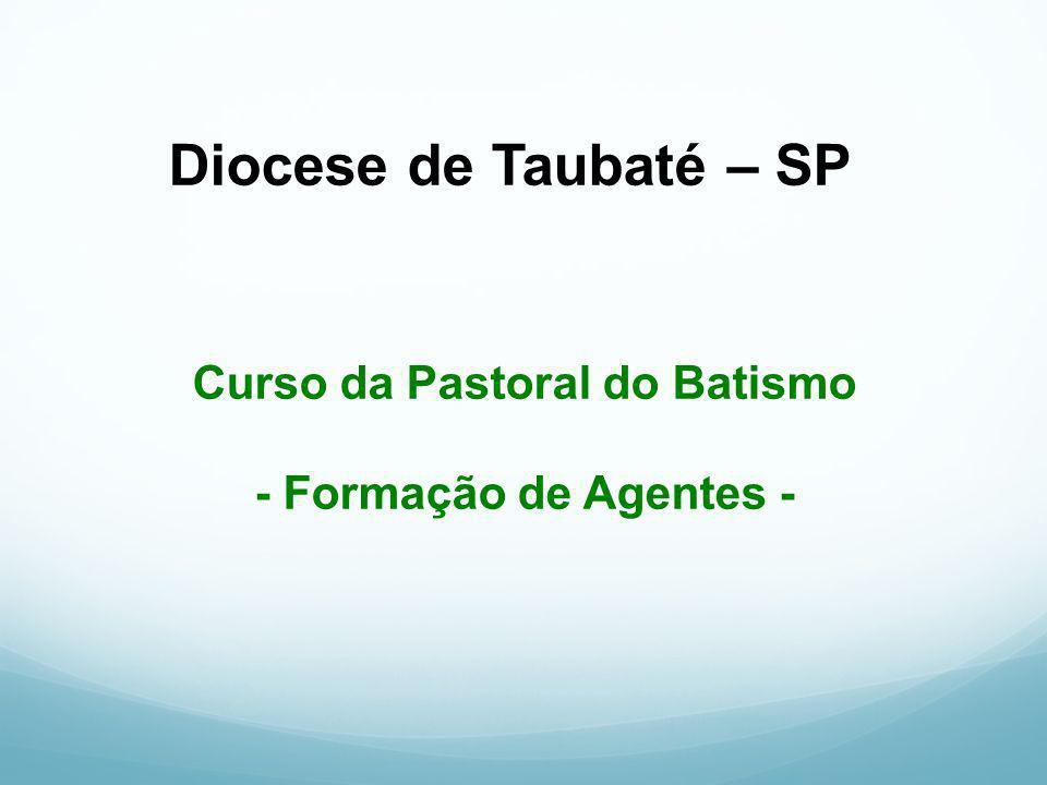 Diocese de Taubaté – SP Curso da Pastoral do Batismo - Formação de Agentes -