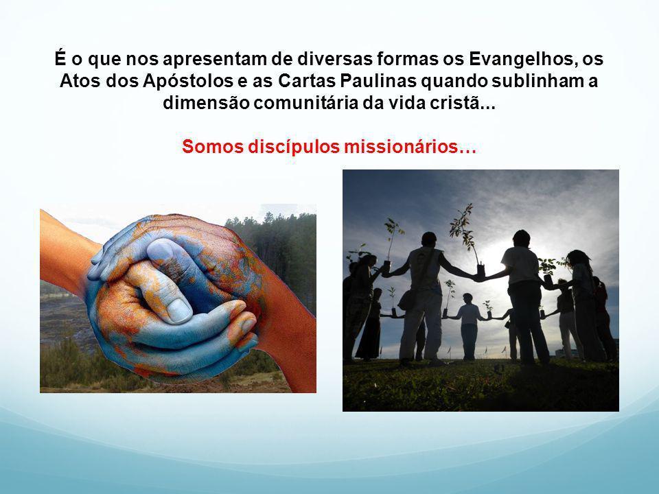É o que nos apresentam de diversas formas os Evangelhos, os Atos dos Apóstolos e as Cartas Paulinas quando sublinham a dimensão comunitária da vida cr