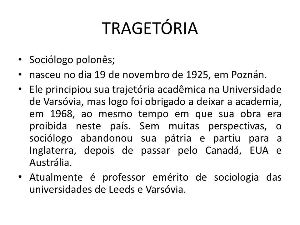 TRAGETÓRIA Sociólogo polonês; nasceu no dia 19 de novembro de 1925, em Poznán. Ele principiou sua trajetória acadêmica na Universidade de Varsóvia, ma