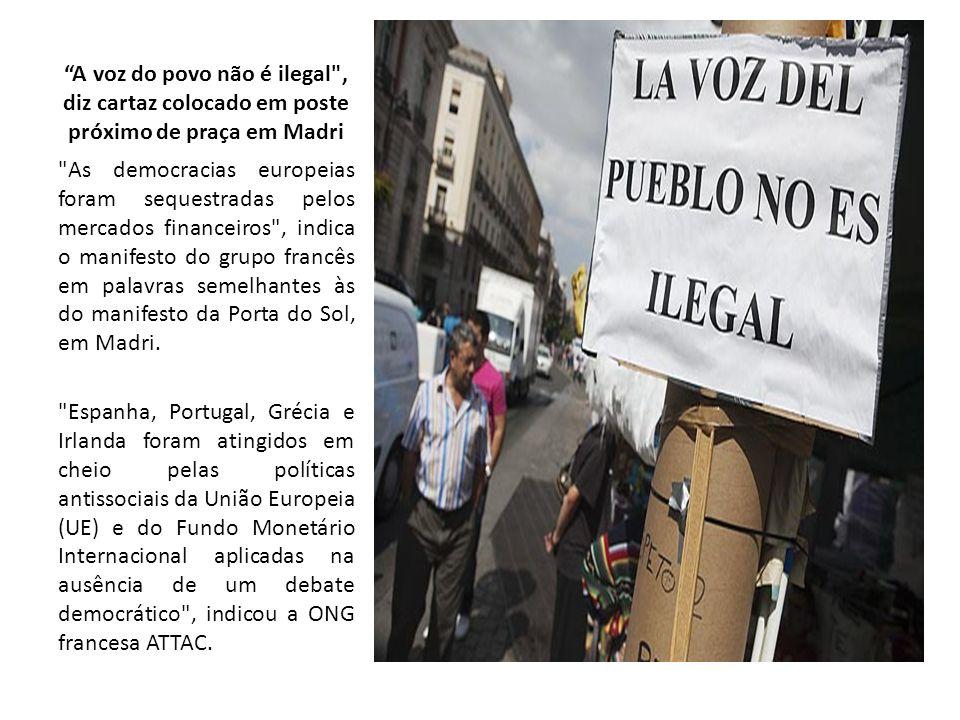 A voz do povo não é ilegal