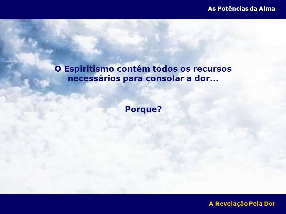 Porque? A Revelação Pela Dor As Potências da Alma O Espiritismo contém todos os recursos necessários para consolar a dor...