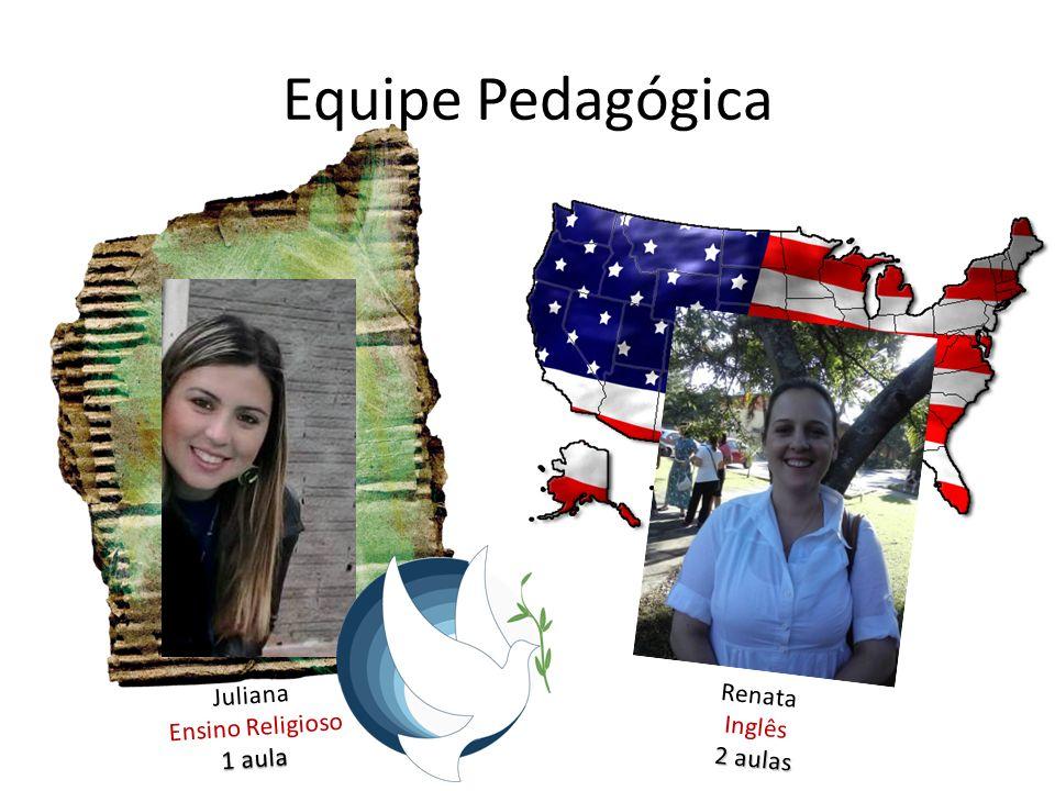 Equipe Pedagógica Juliana Ensino Religioso 1 aula Renata Inglês 2 aulas
