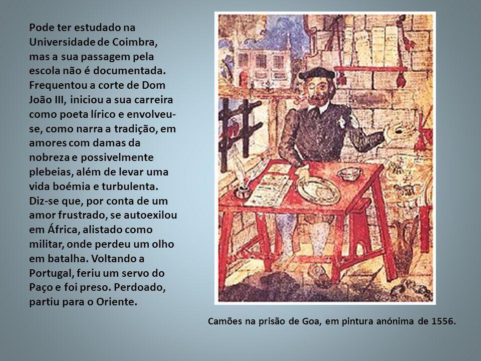 Pode ter estudado na Universidade de Coimbra, mas a sua passagem pela escola não é documentada. Frequentou a corte de Dom João III, iniciou a sua carr
