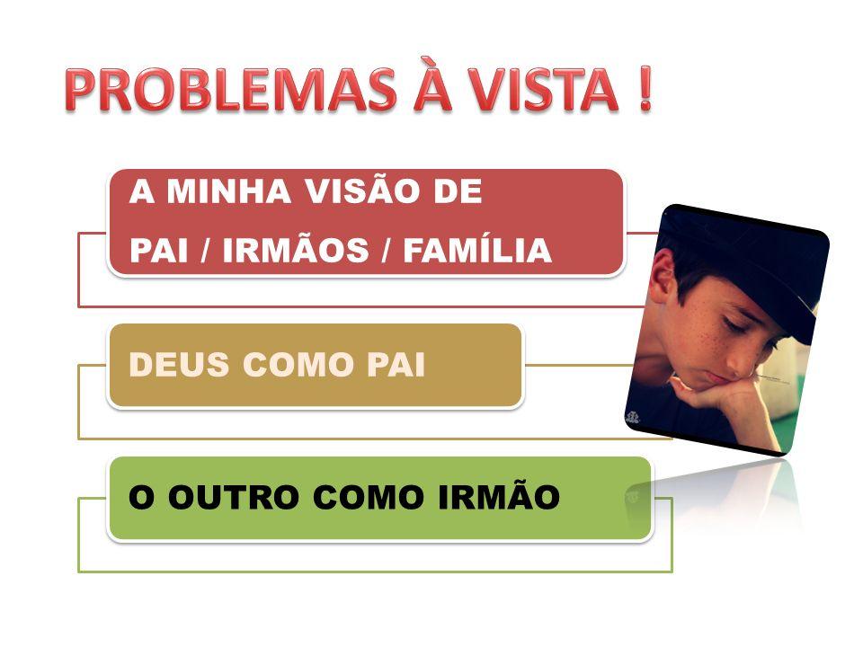 A MINHA VISÃO DE PAI / IRMÃOS / FAMÍLIA DEUS COMO PAIO OUTRO COMO IRMÃO