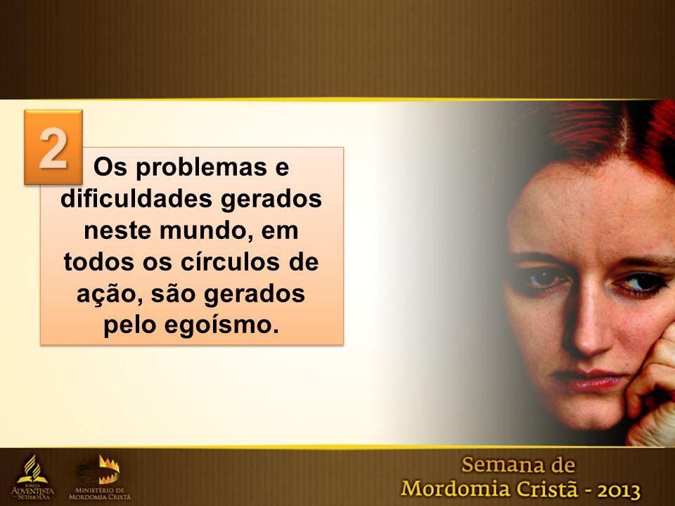 Os problemas e dificuldades gerados neste mundo, em todos os círculos de ação, são gerados pelo egoísmo. Os problemas e dificuldades gerados neste mun