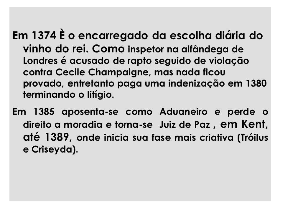 Em 1374 È o encarregado da escolha diária do vinho do rei.