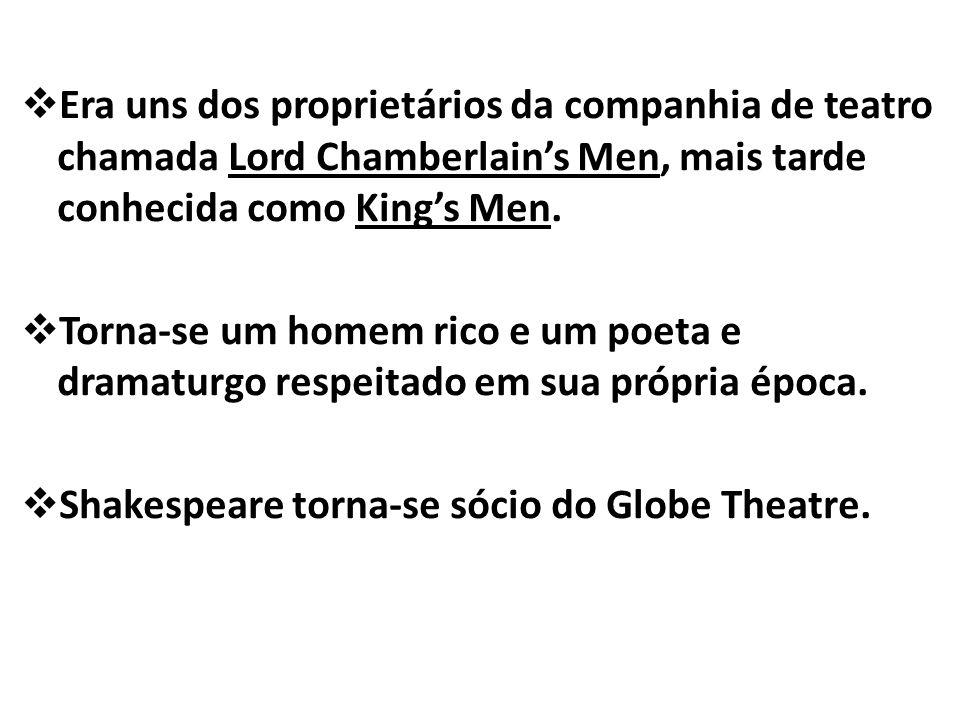 Era uns dos proprietários da companhia de teatro chamada Lord Chamberlains Men, mais tarde conhecida como Kings Men.
